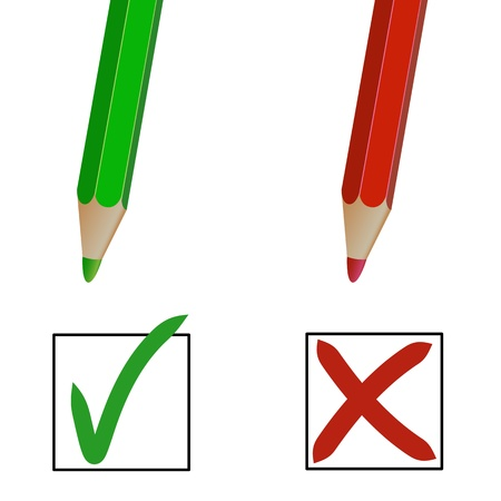 pencil marks against white background Stock Vector - 10030645