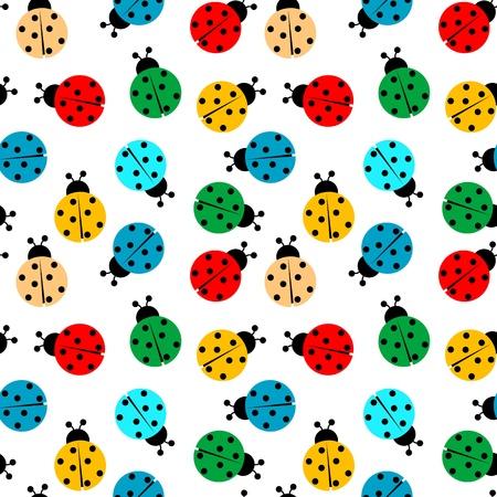 coccinelles dans des couleurs modèle homogène, de texture abstraite Banque d'images