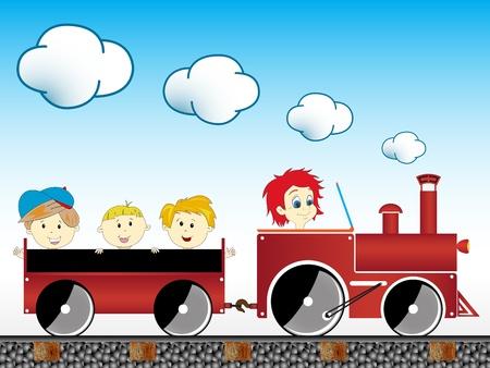 train with children Stock Photo - 10030698