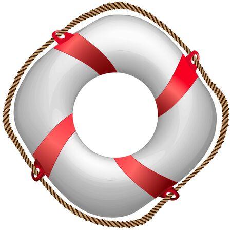 aro salvavidas: trenzado rojo vida boya, ilustraci�n de arte abstracto de vectores