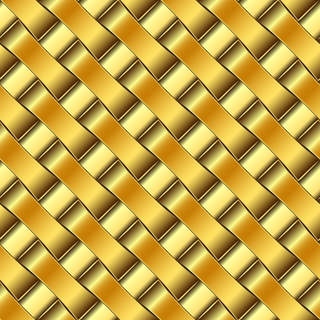 golden pattern, abstract seamless texture; vector art illustration Vector