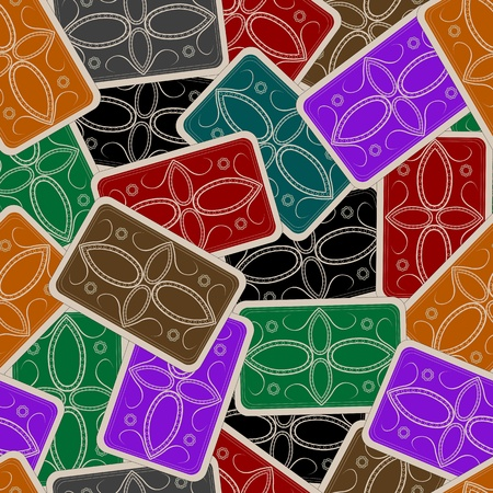 playing cards deck pattern, abstract seamless texture; vector art illustration Stock Illustration - 10367165