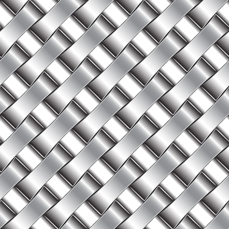 platinum metal: silver pattern, abstract seamless texture; vector art illustration