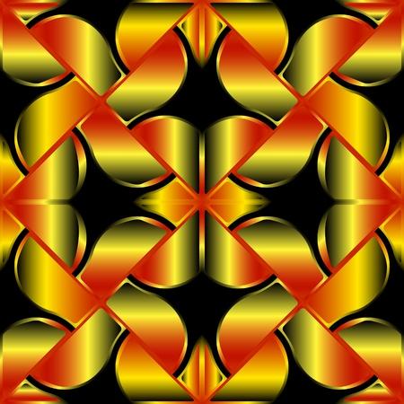 bevel: golden seamless texture, abstract pattern; vector art illustration