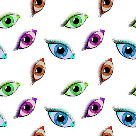 目パターン、抽象的なシームレスなテクスチャ