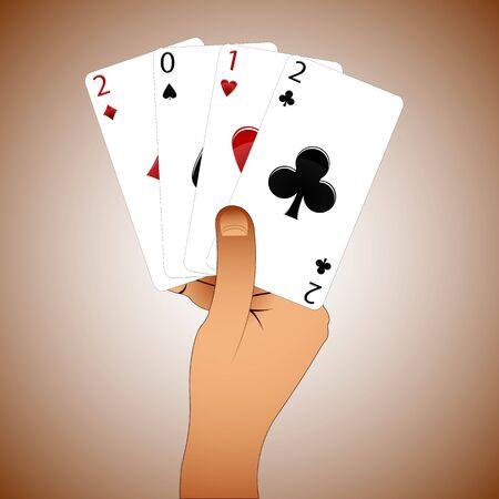 2012 casino year, abstract vector art illustration  イラスト・ベクター素材