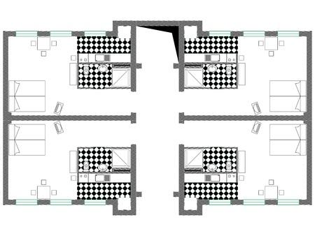 blauwdruk vector tegen een witte achtergrond, abstracte kunst illustratie