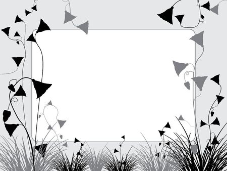grass and flowers background, abstract vector art illustration Stok Fotoğraf