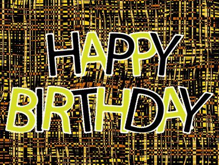 happy birthday composition, abstract vector art illustration