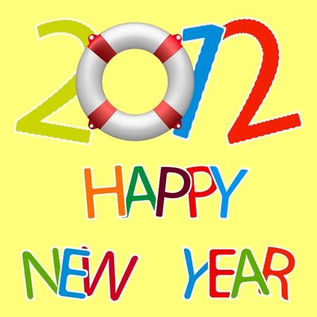 happy new year 2012, abstract vector art illustration illustration