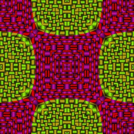 metallic red green mesh, abstract seamless texture; vector art illustration Stock Vector - 11968500