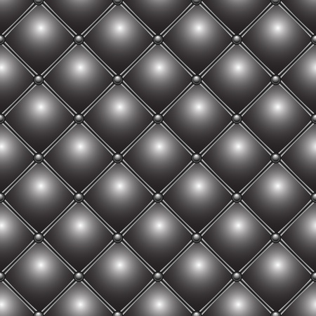 buttoned metallic pattern, abstract seamless texture; vector art illustration Vector