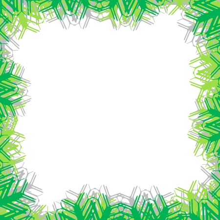 green frame vector with copy space, abstract art illustration