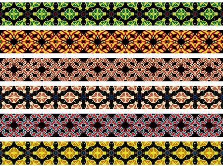lineas horizontales: horizontales de las fronteras sin fisuras contra el fondo blanco, texturas abstractas, ilustraci�n vectorial de arte