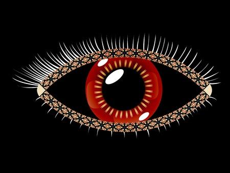 幾何学的な眼、抽象的なベクトルのアートの図;イメージに透明度が含まれています
