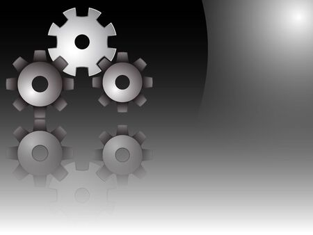 gears vector, abstract art illustration; image contains transparency and opacity mask Vector