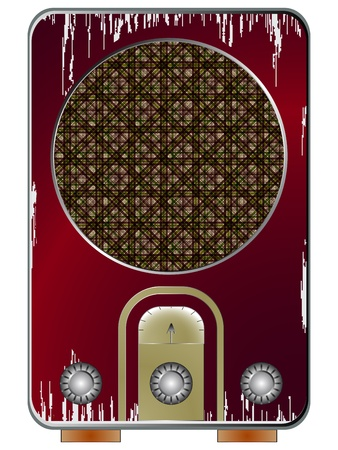 am radio: old radio against white background, abstract vector art illustration; image contains transparency