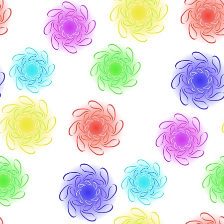 floral seamless design, abstract texture; vector art illustration; image contains clipping mask
