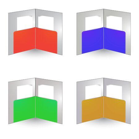 brochure envelopes against white background Vector