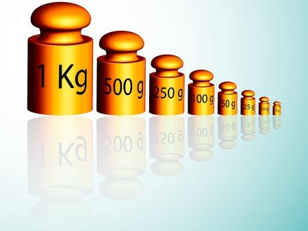 etalonnage: poids d'�talonnage refl�te