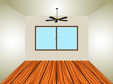 Salle vide avec fenêtre et d'une lampe, illustration de l'art abstrait Banque d'images - 12480666