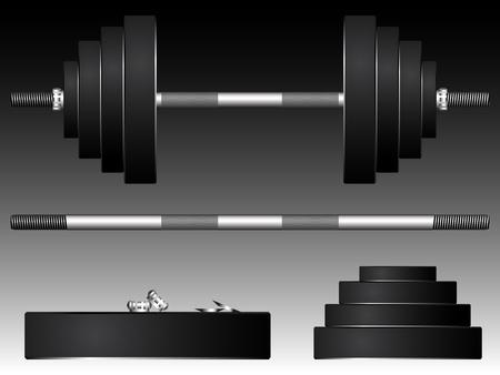 heavy weights, abstract art illustration