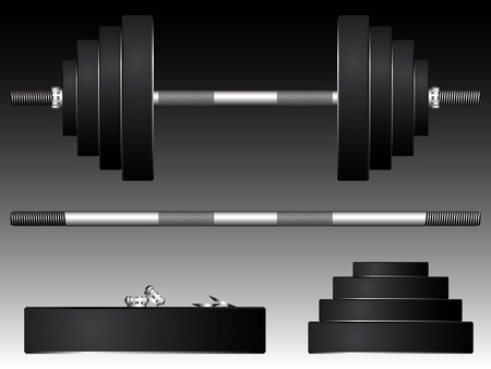 dumbell: pesi, illustrazione arte astratta
