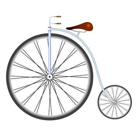 vieille bicyclette contre un fond blanc