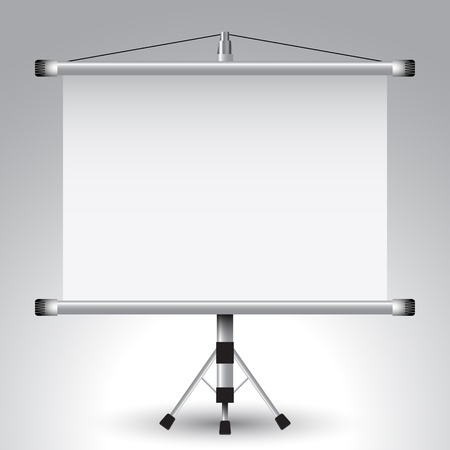 presentation board: projector roller screen Illustration