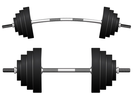 barbell: weights against white background