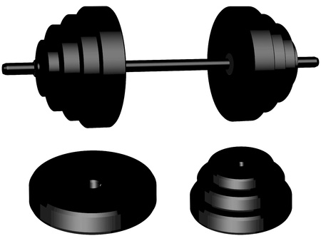benchpress: weights isolated on background Illustration