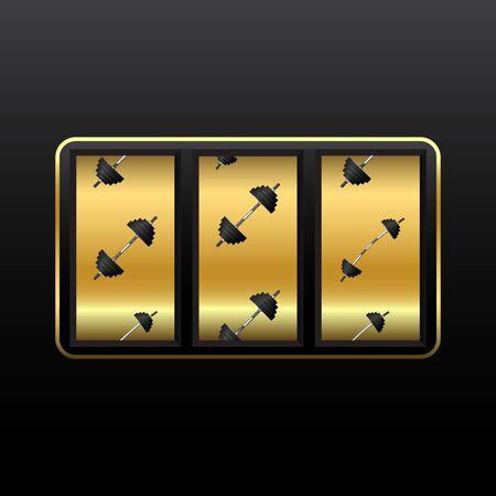 weights slot machine Stock Vector - 12485229