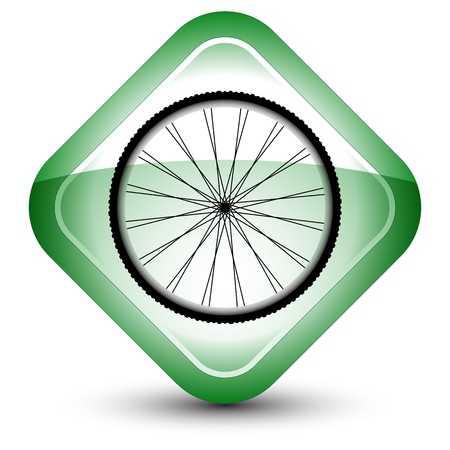 wheel icon against white background Vector