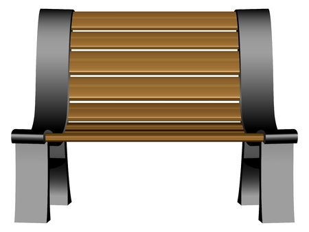 3d bench against white background Illustration