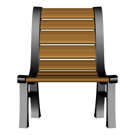 3d garden chair against white background