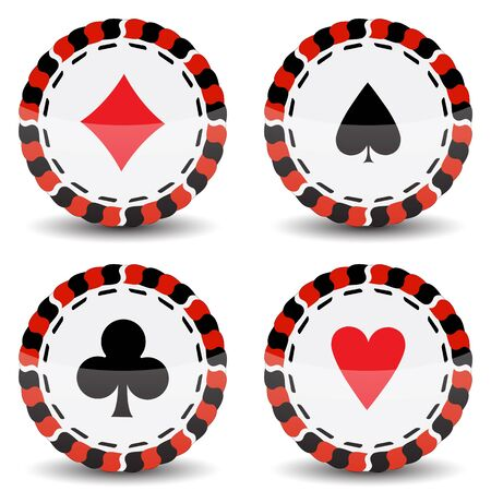 casino chips against white background Vector