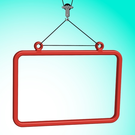 frame hanged on crane hook, abstract vector art illustration Stock Vector - 13435135
