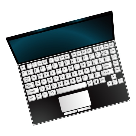 laptop against white background, abstract vector art illustration Vector