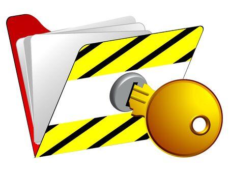 locked folder icon against white background, abstract vector art illustrator Stock Vector - 13435020
