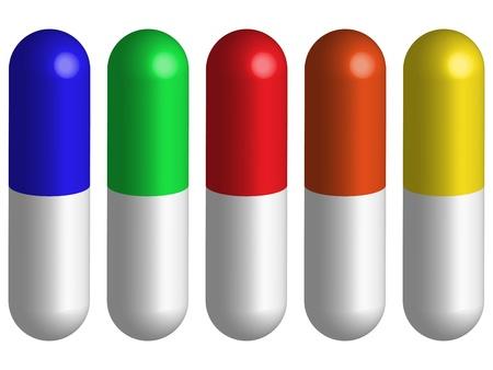 doctor tablet: pills against white background, abstract vector art illustration Illustration