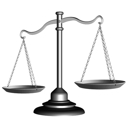 l'échelle d'argent de la justice sur le fond, blanc illustration abstraite d'art de vecteur