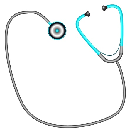 stethascope: stethoscope against white background, abstract vector art illustration