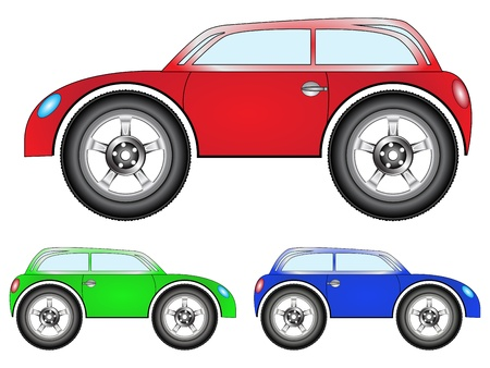 town car set against white background, abstract vector art illustration Stock Vector - 13434963