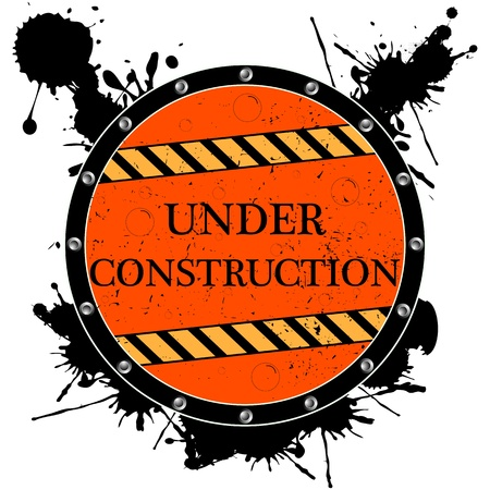 keepout: under construction icon, abstract vector art illustration