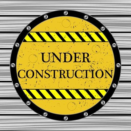 keepout: under construction window, abstract vector art illustration Illustration