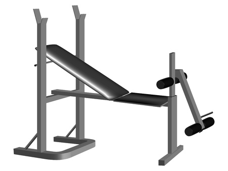 weight machine: weight lifting equipment against white background, abstract vector art illustration; image contains gradient mesh Illustration