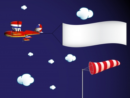 windsock: air transportation, abstract art illustration, image contains transparency