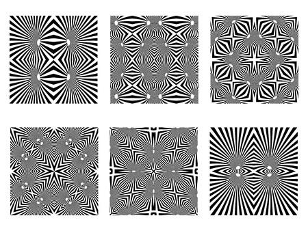 optical art: patrones en blanco y negro, texturas sin costuras Op art, ilustraci�n de arte Vectores