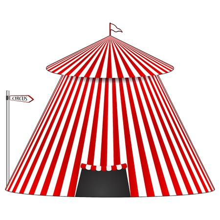 circus tent, abstract  art illustration, image contains gradient mesh Stock Vector - 14656131