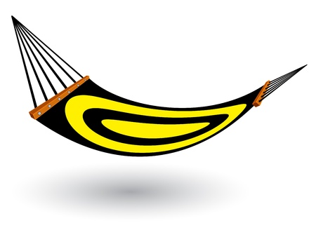 hammock against white background, abstract  art illustration Vector